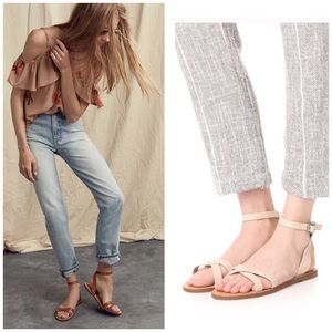 b4f4fee8d843 Madewell Shoes - Madewell Boardwalk Ankle Sandals in Dried Flax 8.5
